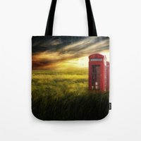 Now Home To The Red Tele… Tote Bag