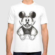 Hey Mickey Mens Fitted Tee SMALL White