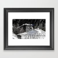 Black And White Ninja Tu… Framed Art Print