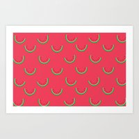 Fun Watermelons Pattern - Summer time Art Print
