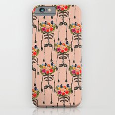 Skeleton and Flowers. Slim Case iPhone 6s
