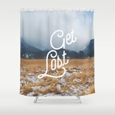 Get Lost Shower Curtain