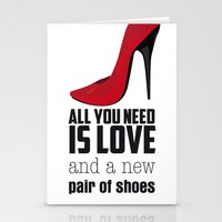 All you need is love! Stationery Cards
