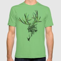 White-Tailed Deer Mens Fitted Tee Grass SMALL