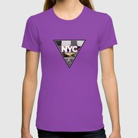 NYC I Womens Fitted Tee Ultraviolet SMALL
