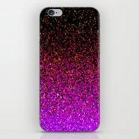 Pink Glitter Sparkle Gradient iPhone & iPod Skin