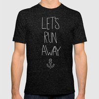 Let's Run Away: Ocean Mens Fitted Tee Tri-Black SMALL
