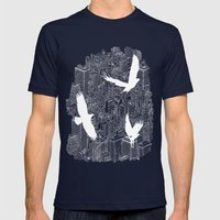 Ecotone (day) Mens Fitted Tee Navy SMALL
