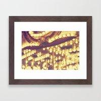Fuzzy Carousel Framed Art Print