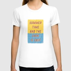 Summertime - A Hell Songbook Edition Womens Fitted Tee White SMALL