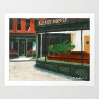 Grass Hopper Art Print