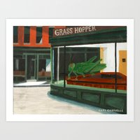 Grass Hopper Art Print
