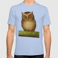 Owl Mens Fitted Tee Tri-Blue SMALL