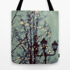 Winter Lights Tote Bag