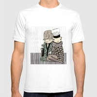 Happy when it rains Mens Fitted Tee White SMALL