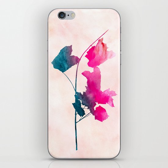 Maple1 Watercolor by Jacqueline Maldonado & Garima Dhawan iPhone & iPod Skin