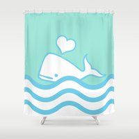 Whale Lover Shower Curtain
