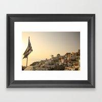 The Greek Feeling Framed Art Print
