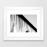 Post-Nemo Icecicles Framed Art Print