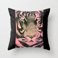Be a Tiger (Pink) Throw Pillow