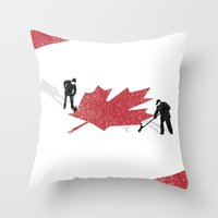 Snow in Canada Throw Pillow