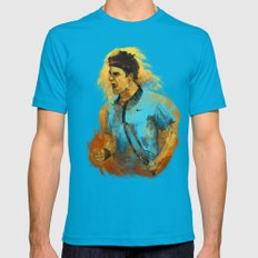 Roger Federer Mens Fitted Tee Teal SMALL