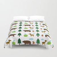 The Essential Patterns of Childhood - Forest Duvet Cover