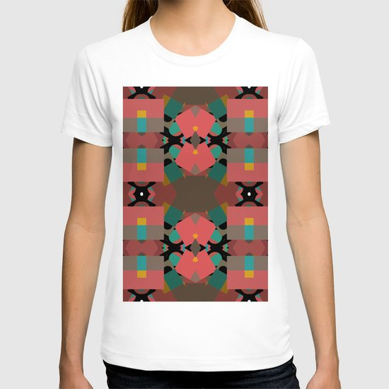 Geometic Crazy Mirror  T-shirt