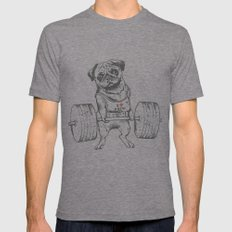 Pug Lift Mens Fitted Tee Tri-Grey SMALL