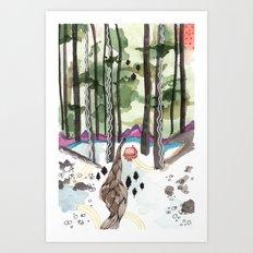 Bagby Trail Art Print