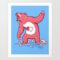 Terror Bear Art Print