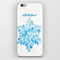 Let It Snow Snowflake Pa… iPhone & iPod Skin