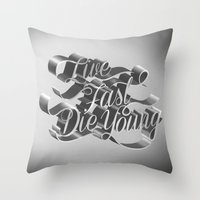 Live Fast Die Young - Bl… Throw Pillow