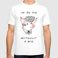 I'M NO PIG WITHOUT A WIG  Mens Fitted Tee White SMALL