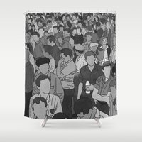 A Face In A Crowd - BW Shower Curtain