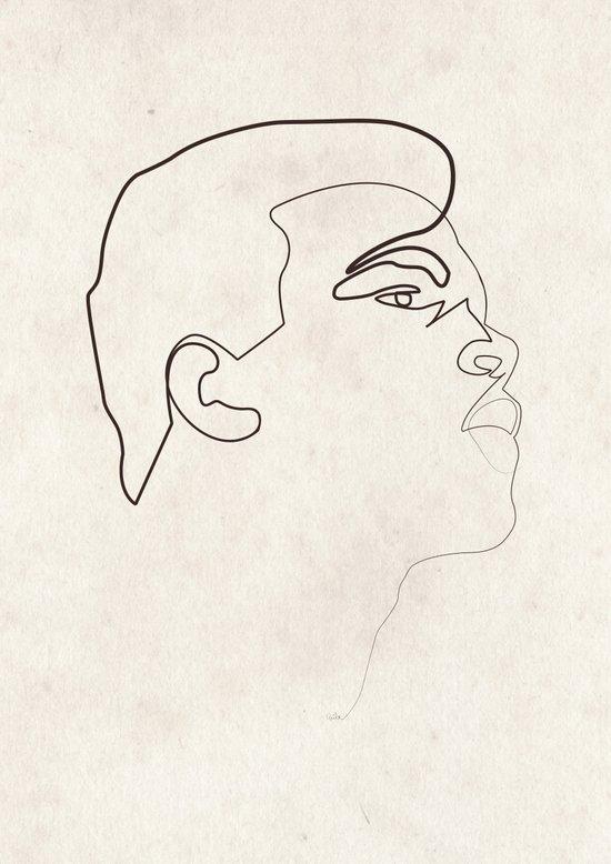 "One Line Muhammad ""The Greatest"" Ali Art Print"