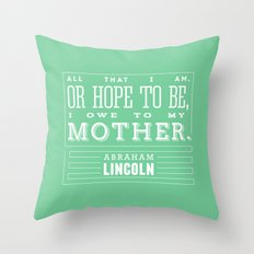 To My Mother Throw Pillow