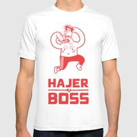 Hajer Boss Mens Fitted Tee White SMALL