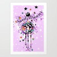 Sweet Dreams Dreamcather Art Print