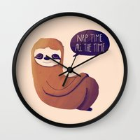 Nap Time All The Time Wall Clock