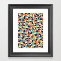 Curved Squares Framed Art Print