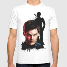 Monster Madness: Dexter Morgan  Mens Fitted Tee White SMALL