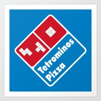 Tetrominos Pizza Art Print