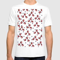 Berry Fields Mens Fitted Tee SMALL White