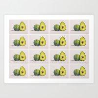 Avocados Art Print