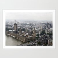 Big Ben From The London … Art Print