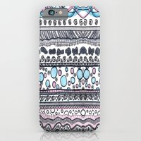 iPhone Cases featuring Sea love pattern Psychedelic art by AfroditaArt