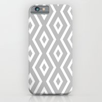 iPhone Cases featuring Grey & White Pattern by Christina Rollo