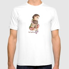 Home Sweet Home White SMALL Mens Fitted Tee