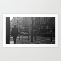 Streets of Paris Art Print